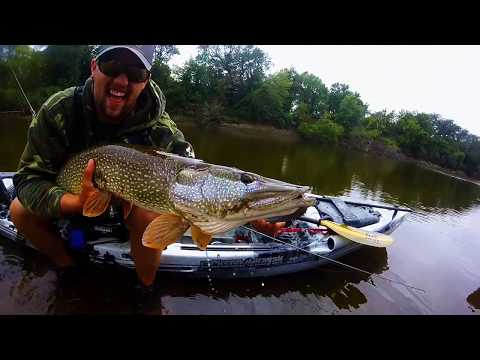 Kayak Fishing for Pike on the Wapsipinicon River
