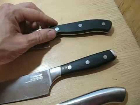 Картонный тест кухонных ножей Thomas Attribute Rondell