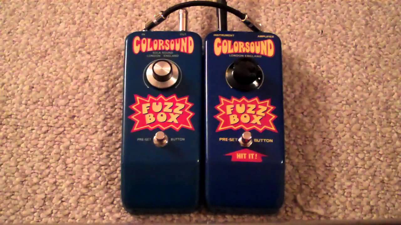 Colorsound Fuzz Box Lp Custom Youtube