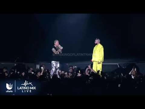 Bad Bunny & J Balvin - Un Peso (En Vivo) Uforia Latino Mix Live Dallas Texas 2019