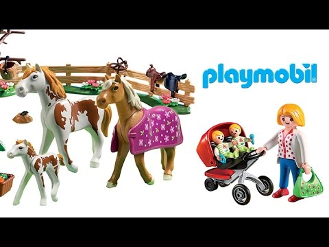 Horses! Horses! Horses! Surprise Eggs! Playmobil Horse Stable, Paint Set, and More!!