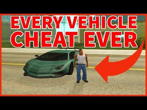 GTA San Andreas CHEATS (Every Vehicle Cheat)