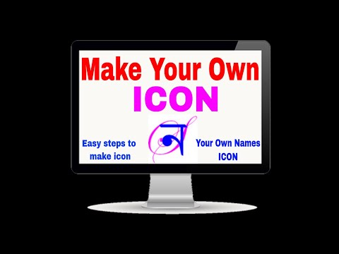 Make your own icon | How to create own names icon | Icon making
