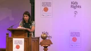 Neha Gupta - Speech at International Children's Peace Prize
