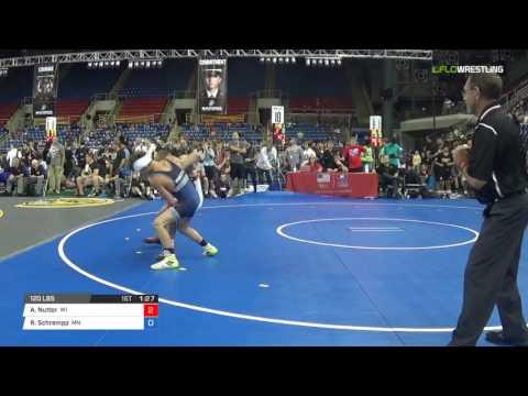 Cadet GR 120 Quarter-Finals - Aidan Nutter (WI) vs. Regan Schrempp (MN)