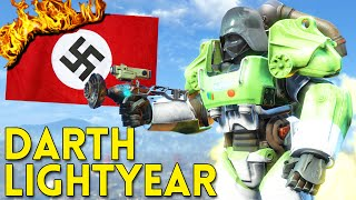 Fallout 4 DARTH LIGHTYEAR vs NAZI BROTHERHOOD - Gameplay Part 2