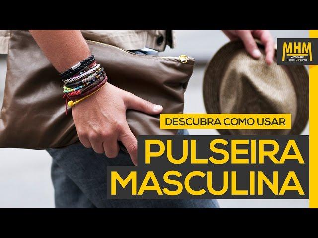 3791600f75d Pulseira masculina