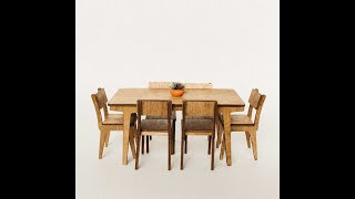 The Tiny Timber Co: Mid Century Dining Table Assembly