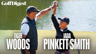 A Round with Tiger: Celebrity Playing Lessons - Jada Pinkett Smith