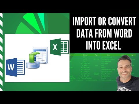 How to Import or Convert Data from Word Document into Excel worksheet