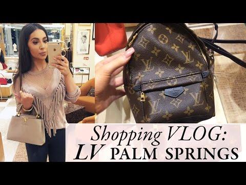 VLOG: Shopping in Westfield Pt 2. LV Palm Springs Backpack