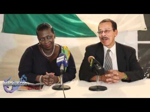 Premier Hon. Paula Cox and Deputy Premier Hon. Derrick Burgess