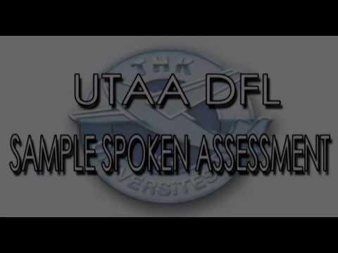 UTAA DFL Sample Spoken Assessment