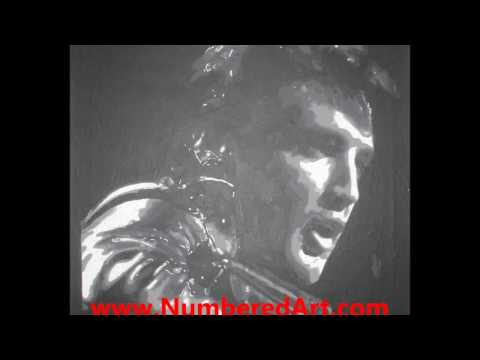 Time Lapse Video Elvis Presley painting. Paint By Number kit