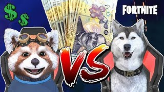 REAL MONEY FORTNITE WITH MY HUSKY BROTHER! * WHO WINS!? *