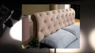 Furniture Of America Wilshire Tufted Velvet Platform Bed Queen Beige