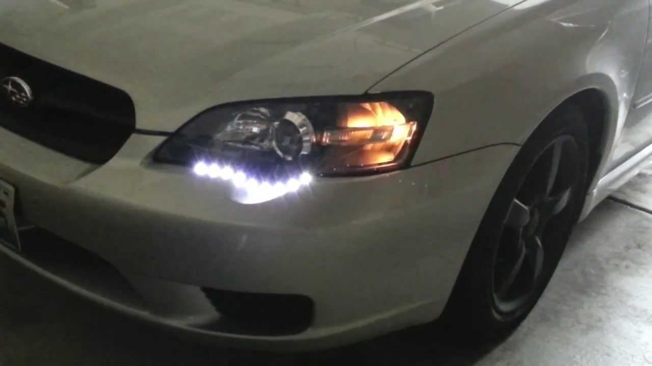 2006 subaru legacy custom headlight mods