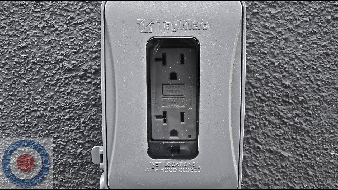 Outdoor gfci installation tutorial youtube on install electrical outlet brick wall Basic Electrical Outlets Power to Switch From a Two installing electrical box in concrete wall