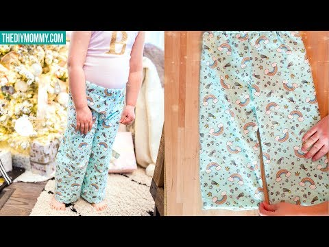 How To Sew Pajama Pants For Kids   FREE PATTERN