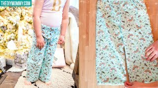 How to Sew Pajama Pants for Kids | FREE PATTERN
