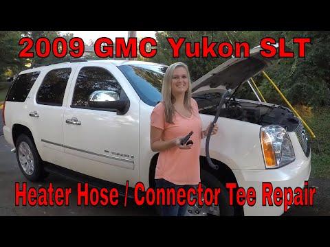 DIY How To Repair 2009 GMC Yukon Heater Hose & Tee Connector Chevy / GM