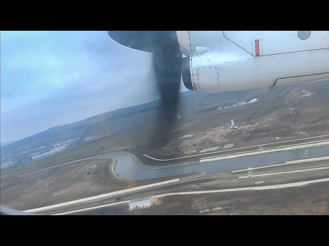 Tarom ATR 42-500 takeoff from Cluj-Napoca!