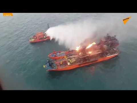 Dix marins portés disparus, les navires toujours en feu dans le détroit de Kertch
