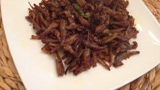 Anchovies fry - Netholi Meen Fry - Anchovies Fried Kerala Style
