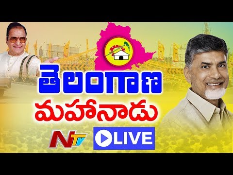 Telangana TDP Mahanadu LIVE    Nampally Exhibition Grounds Hyderabad    NTV