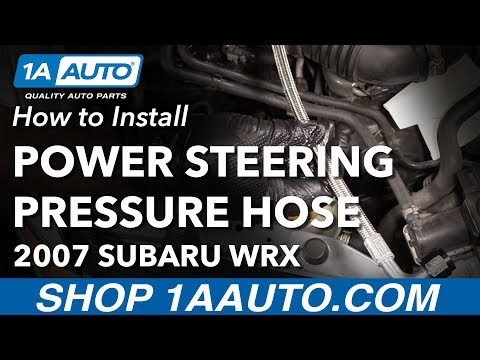 How to Replace Power Steering Pressure Hose 02-07 Subaru WRX