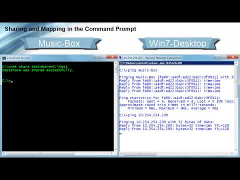 Sharing And Mapping In The Command Prompt