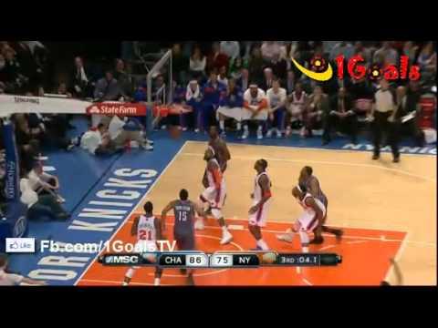 Charlotte Bobcats vs New York Knicks  118-110 Recap Match Highlights 4.1.2012 NBA Basketball
