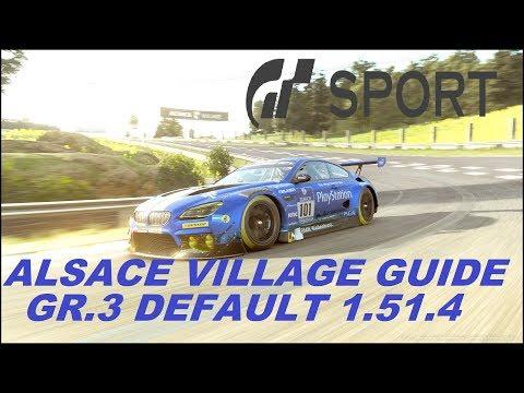 GRAN TURISMO SPORT ALSACE VILLAGE GR.3 1.51.4 16 STOCK SETUP TRACK GUIDE