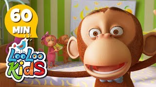 Five Little Monkeys - Awesome Songs With Animals | LooLoo Kids
