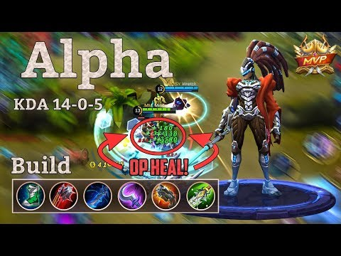 Mobile Legends: Alpha Best Build for Damage! One Skill = Full Heal!