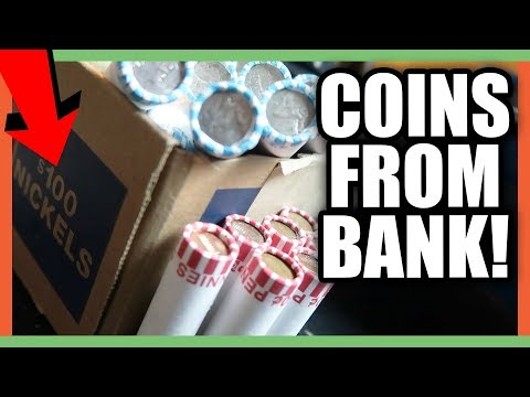 COIN HUNTING FOR RARE COINS FROM THE BANK - COIN ROLL HUNTING!!
