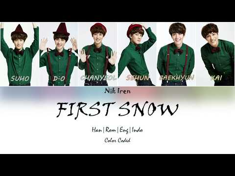 EXO - First Snow (Lyric - Color Coded - Han Rom Eng Indo ) Sub Indo