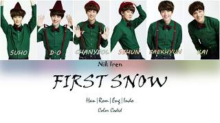 EXO - First Snow (Lyric - Color Coded - Han|Rom|Eng|Indo|) Sub Indo