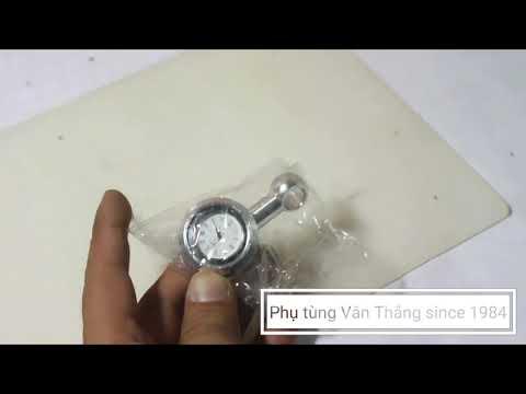 Review Sp đồng Hồ Gắn Chân Kiếng Trang Trí Xe Máy