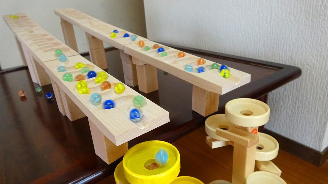 Marble Run Race ☆ ASMR, Double Rolling Ball, Double Spiral Tower!