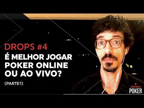 POKER ONLINE OU POKER AO VIVO? (parte 1) | Poker.Drops #4