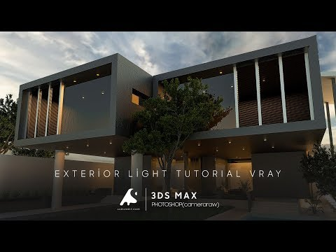 3D Max Creative Exterior Vray3.2 ,Photoshop,CameraRaw Light 2016