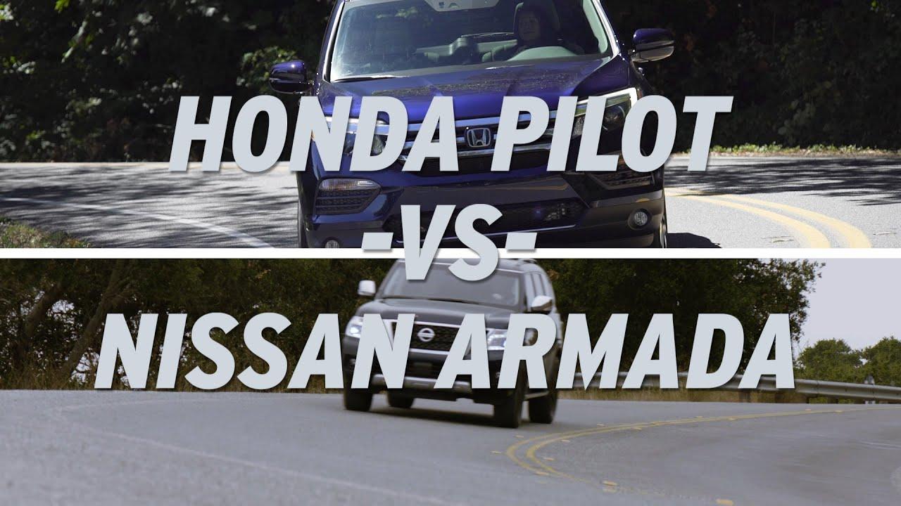 Honda pilot vs nissan armada autonation youtube for Nissan armada vs honda pilot