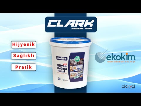 Clark bucket of saniziiter wipes