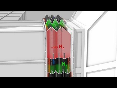 Metall-Industrie Kühl-Technik Kompensator DB Funktion 3D-Animation Maschinenbau