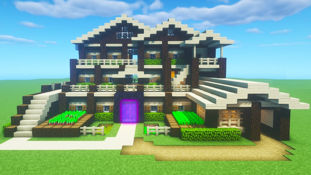 Minecraft Tutorial How To Make A Ultimate Wooden Survival Mansion
