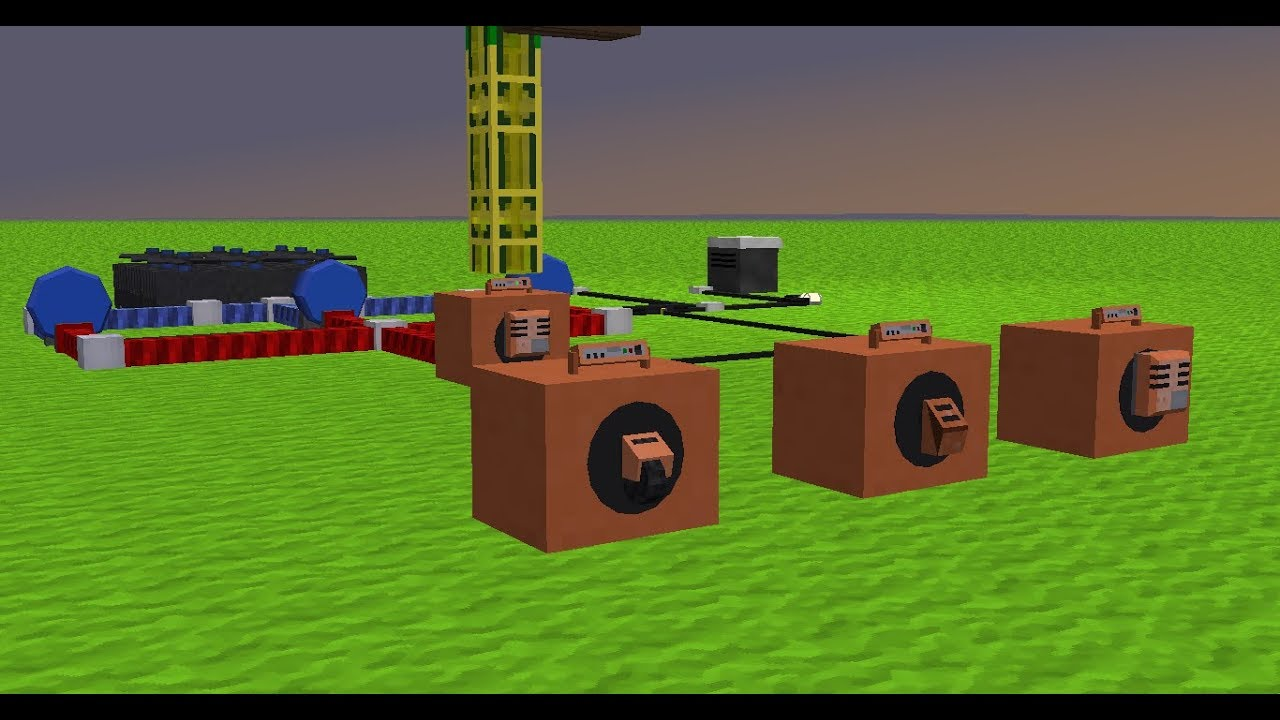 Minecraft Electrical age, Fuel furnace, how to use it ...