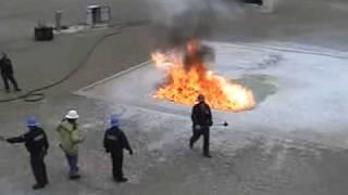 Ansul Fire School 2008  - Heptane Spill Fire