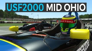 rFactor 2 USF2000 Race at Mid Ohio - First New Car by Studio 397
