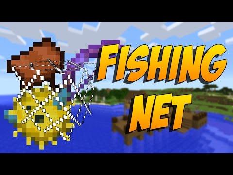 MOD PARA PESCAR COMO UN PRO: Giacomo´s Fishing Net - Minecraft Mod 1.10.2/1.8